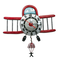 Airplane Jumper Pendulum Clock