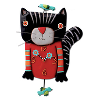 Knitty Kitty Pendulum Clock