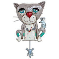 Mouser Cat Pendulum Clock
