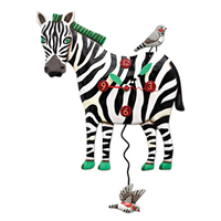 Zeb the Zebra Pendulum Clock