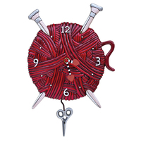 Knitting Love Pendulum Clock