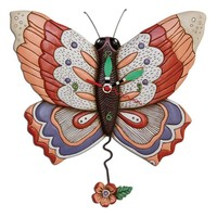 Free Flying Butterfly Pendulum Clock