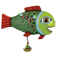 High Tide Fishy Pendulum Clock