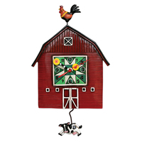 Barn Yard Pendulum Clock