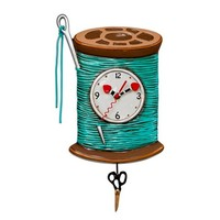Needle & Thread Pendulum Clock