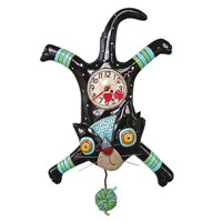 Craft Attack Cat Pendulum Clock