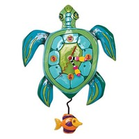 Sup Dude Turtle Pendulum Clock