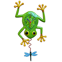 Blue Dragon Frog Pendulum Clock