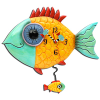 Wide Eye Fishy Pendulum Clock