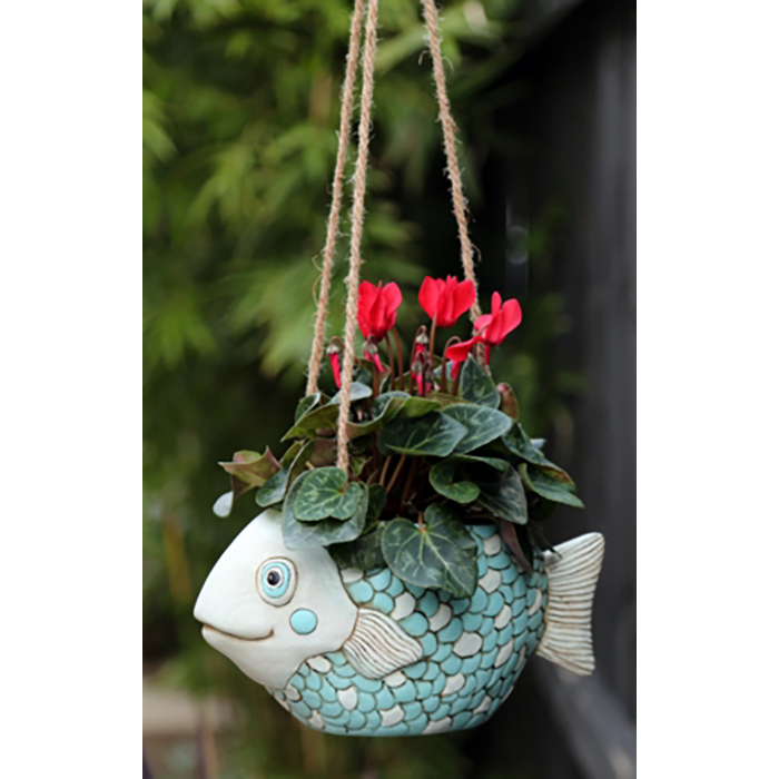 FISH hanging planter